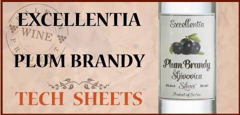 exellentia plum brandy tech sheet
